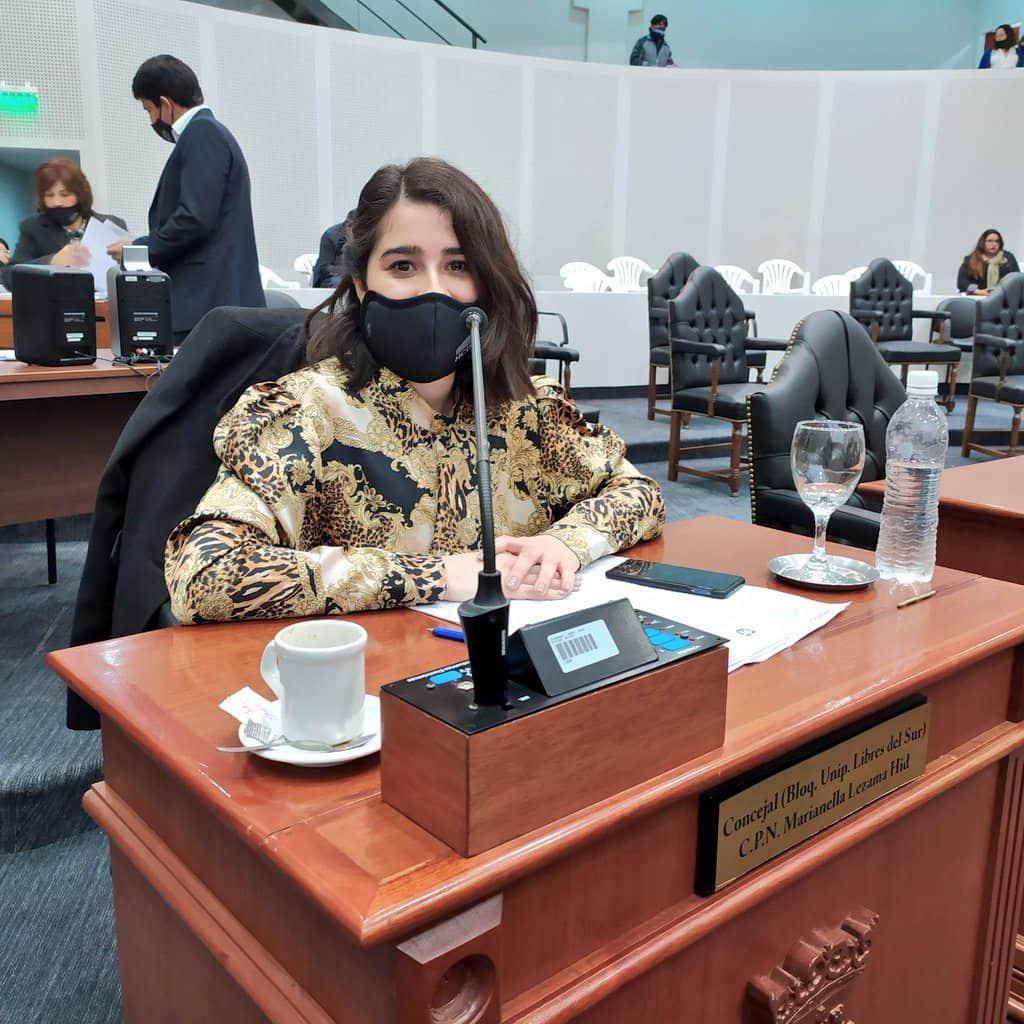 Concejal Marianella Lezama Hid, bloque Libres del Sur.